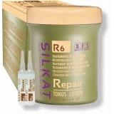Професионален Кератинов лосион за увредена коса BES SILKAT R6 Repair Tonus Lotion 12x10 ml
